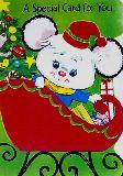 子供服 88FRA※ ★ポスター★ レトロなネズミちゃんサンタクロース