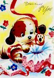 子供服 ※88Ra ★レトロB4ポスター ★ワンコ★