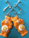 子供服 ♪★A888RF★ケアベア ピアス:イヤリング オレンジ