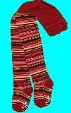 子供服 ARF ★ボーダータイツ・  赤系 110・120・130cm