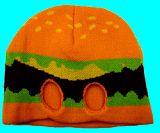 子供服 ●$RF88A※●ハンバーガー ニットキャップ 大人サイズフリー