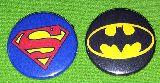子供服 $$99ARF★スーパーマン・バットマン★ 缶バッヂ