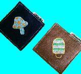 子供服 $FR きのこ 刺繍 コースター 2種セット