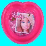 子供服 $88ARF★バービー人形★プラスチック ハートのお皿 シリアルボウル