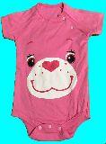 子供服 $※88RA★¥1500 ケアベア:ピンク 半袖ロンパース 70から80cm