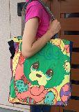 子供服 T99MFA★ビッグサイズ パッチワーク ★レトロくま★トートバッグ