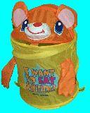 子供服 $◆★ARF99★コンパクトになっちゃうカゴ:クマちゃん:ランドリーBOX
