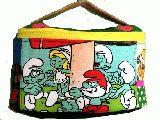 子供服 ●F99TM★お化粧ポーチ★バニティ コスメポーチ★スマーフ