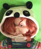 子供服 💲ベビーちゃん用 パンダちゃん フリースキャップ 46から48cm