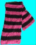 子供服 $※RF99A●ロングマフラー カラフルボーダー★ピンク