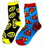 子供服 $F88A◎ちょっと長い★23〜26cm ★ソックス スーパーマン・バットマン