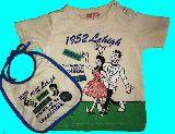 子供服 $A 赤ちゃん Tシャツ90cm ビブのセット 90cm