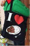 子供服 T99AMF・ビッグサイズ パッチワーク ★アイラブ・カレーライス★トートバッグ