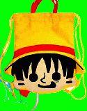 子供服 $※RF88A※ランドセルの上にしょえる★ONE PIECE★ナップサック 体操着入れにも・ルフィ