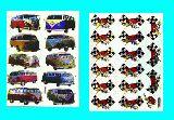 子供服 ●$※★99RAF★デリバン:チェッカーフラッグ レース キラキラシール ワーゲン