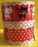 子供服 $A ★ラメラメ パッキンテープ:ネコ・ドット