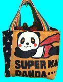 子供服 ◆◆◆A88MFT★500mlのペットボトルもスッポリ♪★保冷できるランチバッグ★スーパーパンダ
