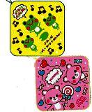子供服 $※RF88A※ クマ:カエル:ループ付きハンドタオル お名前が書ける