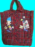 子供服 ♪99MFT★シャツのような・・・ リメイクバッグ アメキャラパッチ