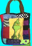 子供服 TF99MA・ビッグサイズ パッチワーク ★怪獣★トートバッグ