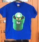子供服 A99RF★1UPキノコ★:Tシャツ 140cm マリオ