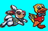 子供服 $※RF88A※ ★ウサギ:アヒル:パンダ アイロンワッペン♪