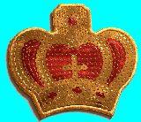 子供服 $RF88A▲★スパンコール★キラキラ アイロンワッペン:王冠