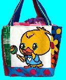 子供服 ◆◆◆A88MFT★500mlのペットボトルもスッポリ♪★保冷できるランチバッグ☆ヒヨコ