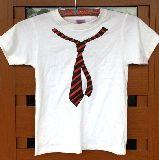 子供服 99RAF★だまし絵Tシャツ:アカネクタイ 130cm