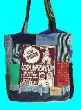 子供服 ◆◆◆AM88FT・ビッグサイズ パッチワーク★アメカジ★トートバッグ