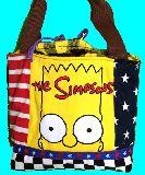子供服 ♪99mFTA★500mlのペットボトルもスッポリ♪★保冷できるランチバッグ★シンプソンズ