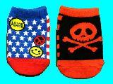 子供服 $RFA99★赤ちゃん ソックス: ★星条旗 ドクロ ¥200