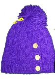 子供服 ●99ARF●リブ編み ニットキャップ:ボタン付き 子供〜大人サイズ