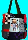 子供服 FT99MA★ビッグサイズ パッチワーク★★チャッキー★トートバッグ