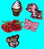 子供服 $※88ARF※ ★ミニ★アイロンワッペン いちご・ファーファ・ソフトクリームなど