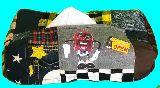 子供服 T99MA★カリフォルニアレーズン♪★ パッチワーク BOXティッシュケース