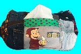 子供服 ♪99MAT★おさるのジョージ♪★ パッチワーク BOXティッシュケース 19-525