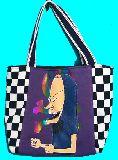 子供服 ◆99MAF★トートバッグ★マグネット付き パッチワーク★ビーバスアンドバットヘッド