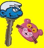 子供服 ◆◆◆A88RF★スマーフ★ピンクパンサー★ キーケース キーカバー 鍵