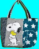 子供服 ◆99MAT★トートバッグ★マグネット付き パッチワーク・スヌーピー 19108