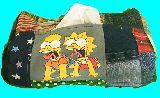 子供服 ♪99MAT★★シンプソンズ★バート&リサ★ パッチワーク ティッシュボックス
