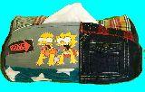 子供服 ♪99MAT★★シンプソンズ★バート&リサ★ パッチワーク ティッシュボックス 191015