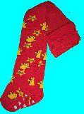 子供服 $A99RF★フレンドリー君★タイツ・赤 85・95・110・cm