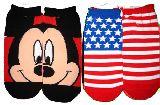 子供服 $99ARF★ミッキーマウス 星条旗 レディースソックス 23〜26�p