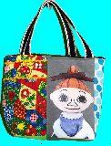 子供服 ◆A99MT★トートバッグ★マグネット付き パッチワーク・ミムラ姉さん 20128