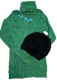 子供服 ARF88★ タートルネック ニットキャップ ネックレス イヤリングの4点セット
