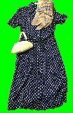 子供服 99RF★ レトロなワンピース スカーフ3「バーバリー」・バッグ の3点セット