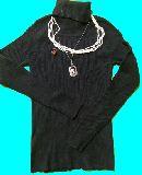 子供服  タートルネック イヤリング ネックレス2個 4点セット