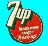 子供服 ◆◆ セブンアップ アイロンワッペン 7UP