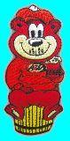 子供服 ◆◆◆ファストフードチェーン店「A&W」のキャラクター:グレートルートベア アイロンワッペン
